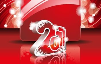 2011 NEW YEAR WALLPAPER - vector gratuit #176853