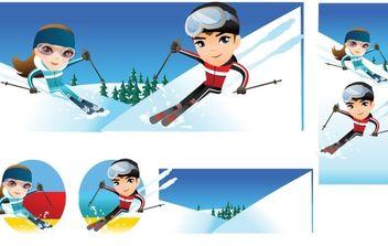 Snow boarding vector 10 - Kostenloses vector #176973