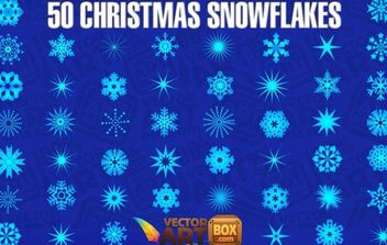 Christmas Snowflakes - Free vector #177373
