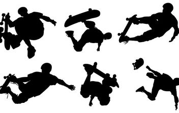 Skate Boarding Art Vectors- Free - бесплатный vector #177443