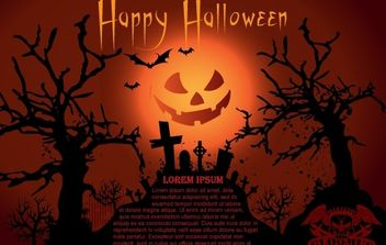 Vector Halloween Template - vector gratuit #177523