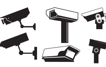 CCTV Camera Vector Graphics - vector gratuit #177593
