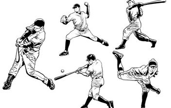 Baseball Players - vector gratuit #177663