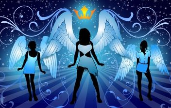 Night Angels - Free vector #177793