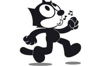 Felix the cat - vector #177973 gratis