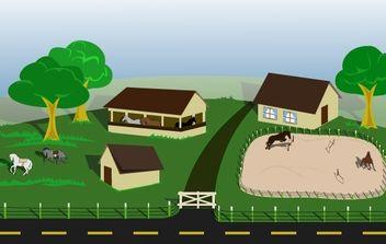 Horse farm - Free vector #178023