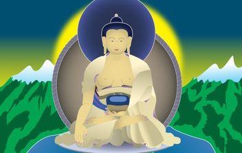 Buddha Shakyamuni - vector gratuit #178033