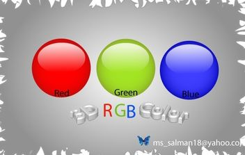 RGB-Color-Balls - Free vector #178293