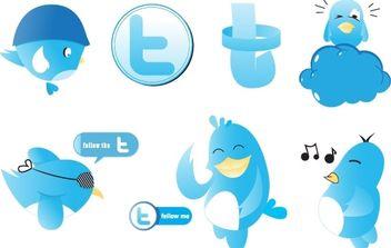 Twitter Vectors - бесплатный vector #178333