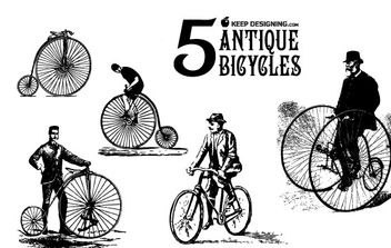 Antique Bicycle Vector Art - Kostenloses vector #178383