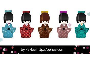 Kokeshi dolls - Free vector #178613