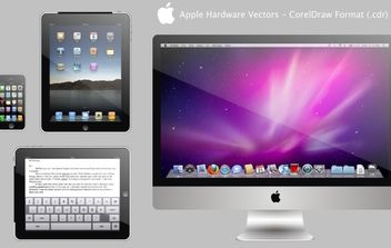 Apple Hardware Vectors - vector gratuit #178813
