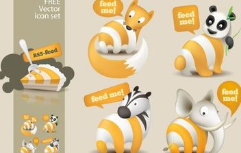 Feed Me Animals: A Free RSS Feed Icon Set - Free vector #178883
