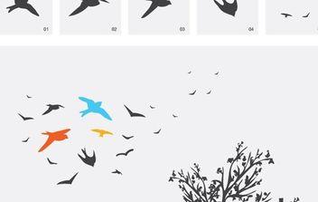 Birds - vector gratuit #179023