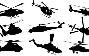 Helicopter Vector Pack - vector #179053 gratis