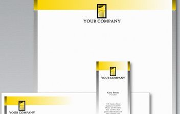 Stationery template by logobee - Free vector #179083