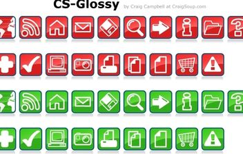 Glossy Vector Icons - Free vector #179133