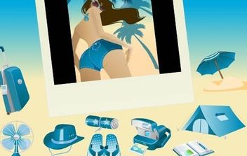 Blue Vector Summer Vista Icons - Kostenloses vector #179183