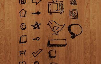 Hand Drawn Vector Icons - Kostenloses vector #179193
