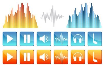Sound Icons - vector #179233 gratis