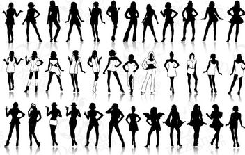 Sexy Girls Silhouettes - vector gratuit #179393