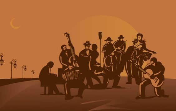 Tango orchestra vector - Free vector #179443