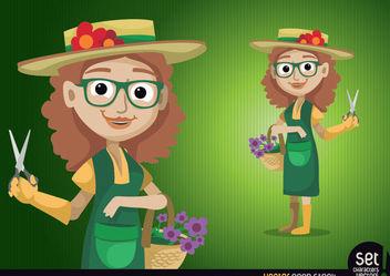 Gardener Woman Character - Kostenloses vector #179623