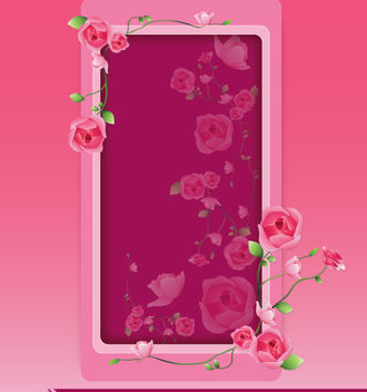 Beautiful Pinkish Rose Floral Frame - Free vector #179633