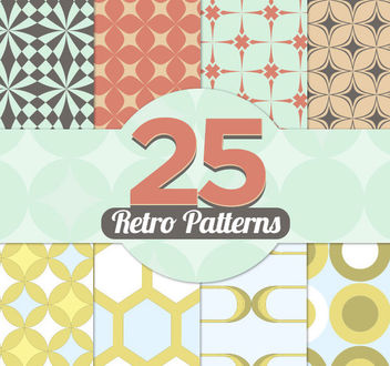 25 Geometric Vintage Patterns - vector gratuit #179683