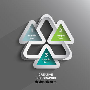 Creative Triangular 3D Sticker Infographic - Kostenloses vector #180093