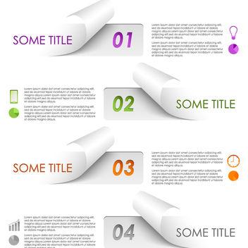 Creative Flip Edge Paper Infographic Set - Kostenloses vector #180113
