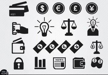 Financial icons set - vector gratuit #180133