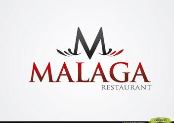 M Typographic Malaga Restaurant Logo - vector #180333 gratis