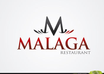 M Typographic Malaga Restaurant Logo - Kostenloses vector #180333