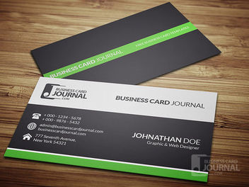 Clean & Simple Corporate Business Card - Free vector #180383