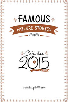 Famous Motivational Stories Printable Calendar 2015 - бесплатный vector #180433