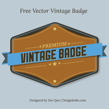 Vintage Premium Badge - Free vector #180503