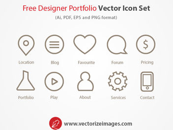 Outlined Web Designing Icons Pack - Free vector #180533
