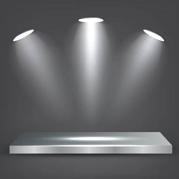 Realistic Metal Shelf with Lights - vector gratuit #180553