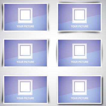 Web Image Box Pack with Shadow Designs - vector gratuit #180563