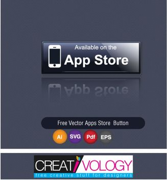Glossy Bluish App Store Button - Free vector #180593