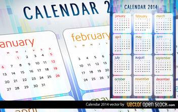 2014 Calendar Vector - Kostenloses vector #180623