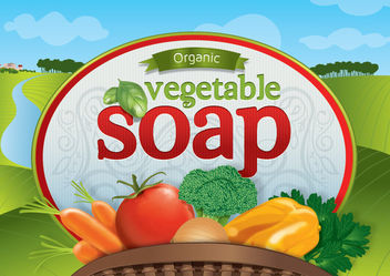 Organic Vegetable Soap design - vector gratuit #180633