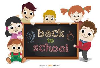 Back to School Children - бесплатный vector #180683