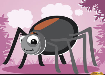 Funny cartoon Spider bug - Free vector #180773