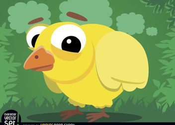 Baby chicken cartoon animal - vector gratuit #180803