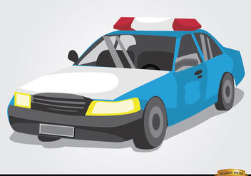 Police car cartoon style - Free vector #180833