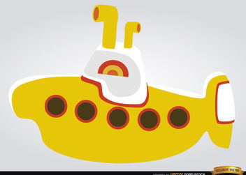 Yellow submarine children toy - vector gratuit #180843