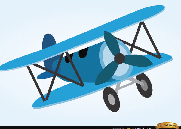 Airplane toy cartoon style - Free vector #180863