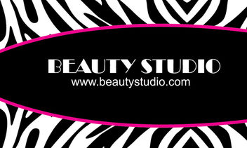 Black & White Zebra Print Business Card - Free vector #181303